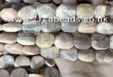 CSS445 15.5 inches 13*18mm - 16*20mm faceted freeform sunstone beads