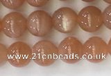 CSS704 15.5 inches 6mm round natural golden sunstone beads