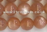 CSS709 15.5 inches 6mm round natural golden sunstone beads