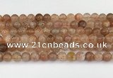 CSS762 15.5 inches 7mm round golden sunstone beads wholesale