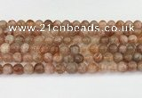 CSS763 15.5 inches 8mm round golden sunstone beads wholesale