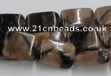 CST14 15.5 inches 12*16mm rectangle staurolite beads wholesale