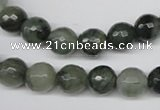 CSW12 15.5 inches 8mm faceted round seaweed quartz beads wholesale