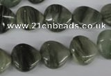 CSW168 15.5 inches 13*13mm heart seaweed quartz beads wholesale