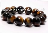 CTB05 7 inches 14mm round blue tiger eye stretch bracelet