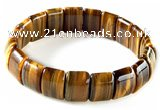 CTB16 10*14mm rectangle yellow tiger eye stretch bracelet