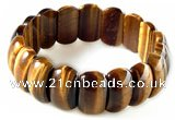 CTB17 7.5 inches 7*11*18mm  yellow tiger eye stretch bracelet