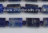 CTB201 15.5 inches 10*15mm faceted tube lapis lazuli gemstone beads