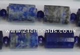 CTB210 15.5 inches 13*18mm faceted tube lapis lazuli gemstone beads