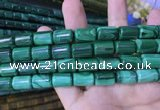 CTB260 15.5 inches 10*15mm tube natural malachite gemstone beads