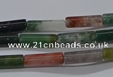 CTB314 15.5 inches 4*13mm tube Indian agate beads wholesale