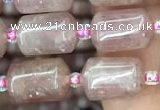 CTB604 15.5 inches 8*12mm tube strawberry quartz beads wholesale