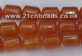 CTB704 15.5 inches 6*8mm tube red aventurine beads wholesale