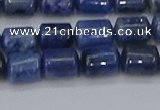 CTB716 15.5 inches 6*8mm tube blue dumortierite beads wholesale