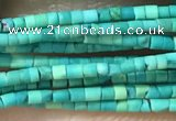 CTB801 15.5 inches 1mm tube turquoise beads wholesale