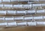 CTB810 15.5 inches 2*4mm tube white crystal beads wholesale