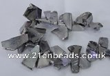 CTD1166 Top drilled 15*25mm - 30*40mm freeform plated agate beads
