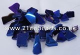 CTD1171 Top drilled 15*25mm - 30*40mm freeform plated agate beads
