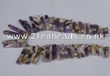 CTD1979 Top drilled 8*20mm - 10*55mm sticks dogtooth amethyst beads