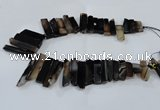 CTD1982 Top drilled 8*25mm - 10*50mm sticks agate gemstone beads