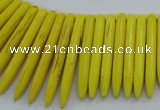 CTD2021 Top drilled 5*20mm - 5*45mm sticks turquoise beads