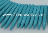 CTD2023 Top drilled 5*20mm - 5*45mm sticks turquoise beads
