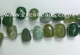 CTD2128 Top drilled 15*25mm - 18*25mm freeform agate beads