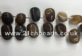 CTD2132 Top drilled 15*25mm - 18*25mm freeform agate beads