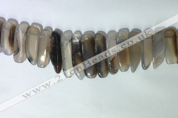 CTD2160 Top drilled 8*20mm - 10*40mm sticks agate gemstone beads
