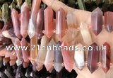 CTD2243 10*22mm - 12*45mm faceted nuggets south red agate beads