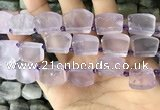 CTD2281 Top drilled 15*20mm - 17*23mm freeform amethyst beads