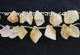 CTD2304 Top drilled 20*25mm - 30*45mm faceted nuggets citrine beads
