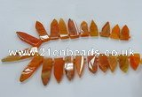 CTD2510 Top drilled 15*25mm - 16*50mm sticks agate gemstone beads