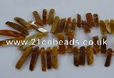 CTD2533 Top drilled 8*30mm - 11*50mm sticks agate gemstone beads