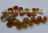 CTD2549 Top drilled 18*25mm - 30*40mm freeform agate gemstone beads
