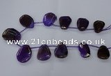 CTD2566 15.5 inches 18*25mm - 30*40mm freeform agate beads