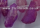 CTD2632 Top drilled 10*25mm - 20*45mm nuggets plated druzy quartz beads