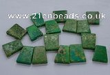 CTD2655 Top drilled 25*35mm - 30*40mm trapezoid sea sediment jasper beads