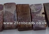 CTD2690 Top drilled 16*22mm - 16*55mm rectangle agate beads