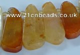 CTD2700 15.5 inches 10*25mm - 18*50mm freeform agate beads