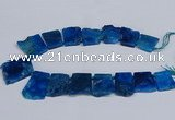 CTD2758 Top drilled 25*30mm - 35*45mm freeform agate beads