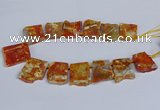 CTD2832 Top drilled 25*30mm - 35*45mm freeform agate beads