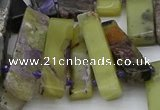CTD330 Top drilled 10*25mm - 10*45mm sticks charoite beads