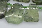 CTD337 Top drilled 15*20mm - 25*30mm freeform green rutilated quartz beads