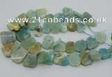 CTD3512 Top drilled 15*20mm - 25*30mm freeform amazonite beads