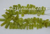 CTD3520 Top drilled 10*20mm - 12*40mm sticks Korean jade beads