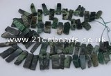 CTD3521 Top drilled 10*20mm - 12*40mm sticks kambaba jasper beads