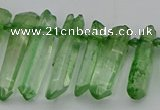 CTD3549 Top drilled 6*20mm - 8*35mm sticks quartz beads wholesale