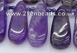 CTD3646 Top drilled 10*20mm - 15*45mm freeform matte amethyst beads