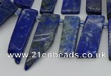 CTD3654 Top drilled 6*15mm - 10*25mm sticks lapis lazuli beads